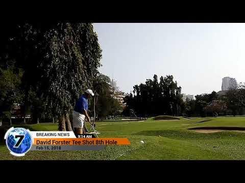 8th Hole Tee Shot Asia Pattaya Golf Course Thailand