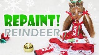 Repaint! Christmas Lolita Reindeer Yuliya Custom Doll OOAK