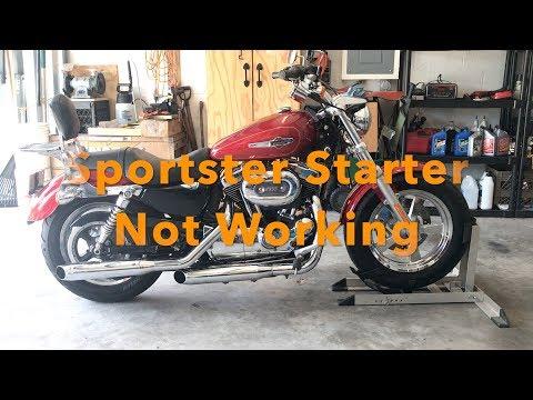Harley Sportster Starter Not Working  - YouTube