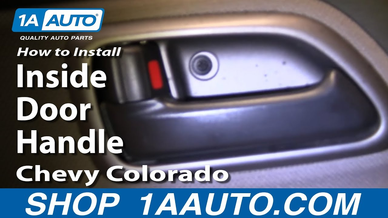 How to install replace rear inside door handle chevy - Installing a lock on a bedroom door ...