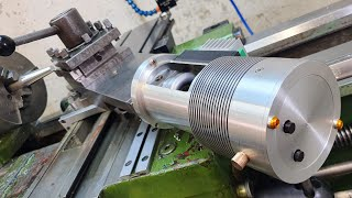 Universal rotator. Installed a stepper motor on a lathe.