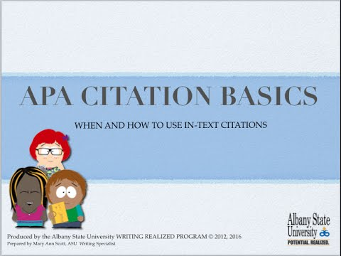 Apa In Apa How To Cite A Website