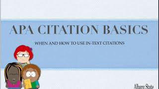 APA In-text Citations (6th Edition)