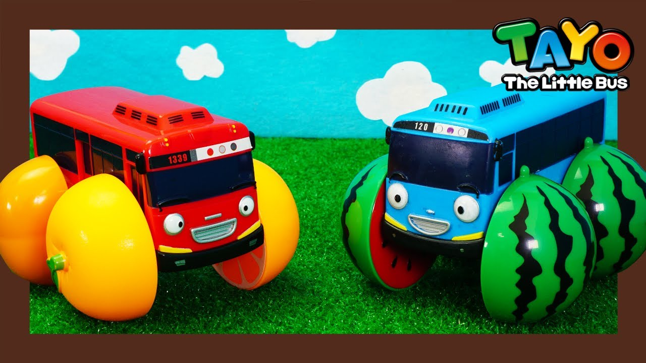 Tayo's wheels turned into fruits! l Tayo Heroes 3 l Tayo Toy Vehicles for Kids l Tayo the Little Bus