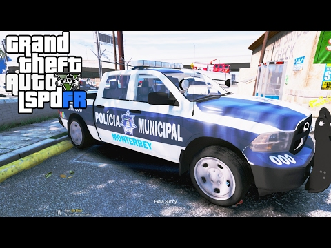 GTA 5 LSPDRF#51 POLICIA MUNICIPAL DE MONTERREY  EdgarFtw
