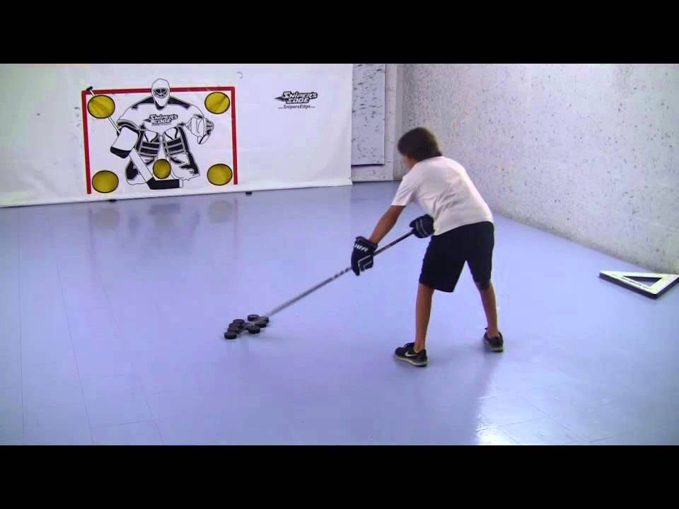 Snipers Edge Hockey Backhand Shooting Drill Youtube