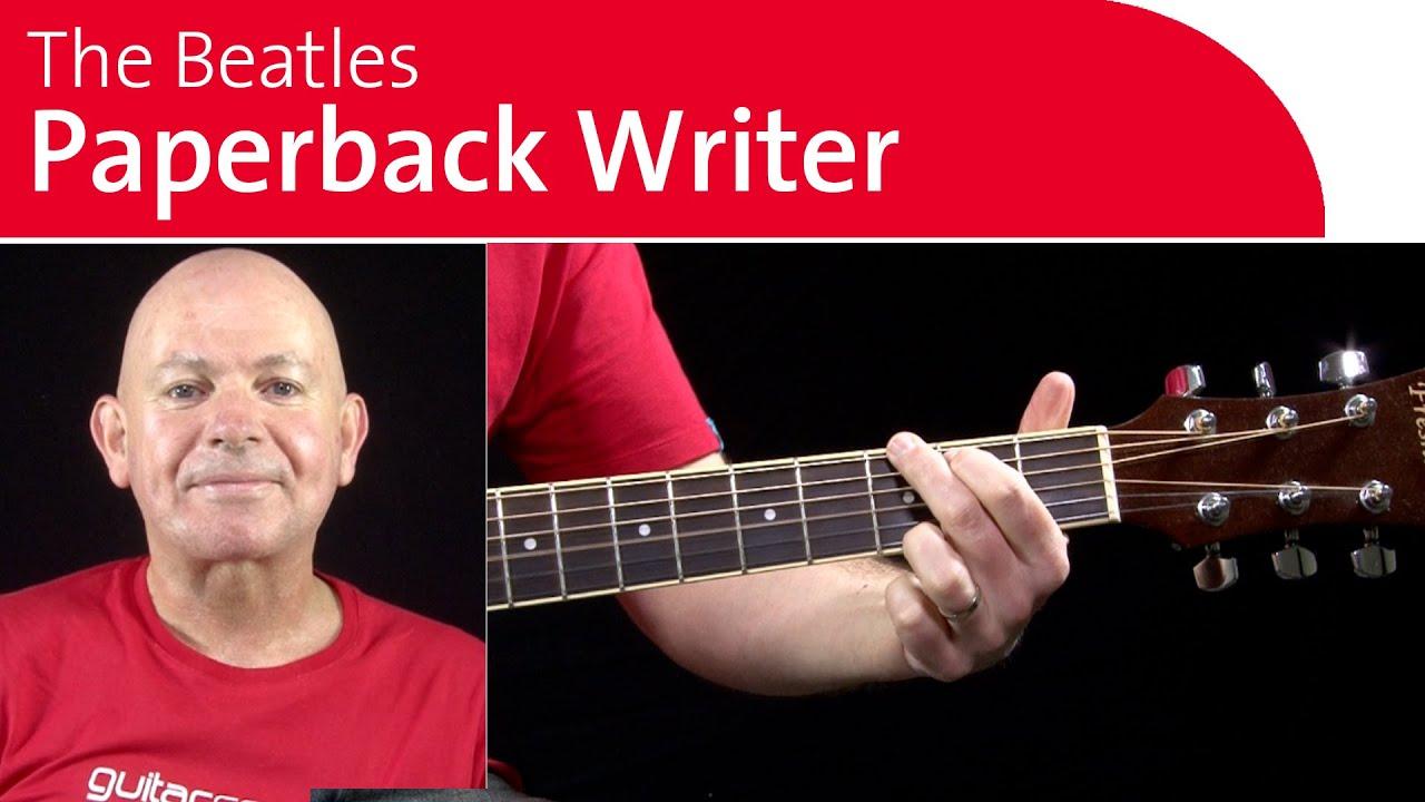 Paperback Writer by the Beatles Guitar Chords - Breakdown ...