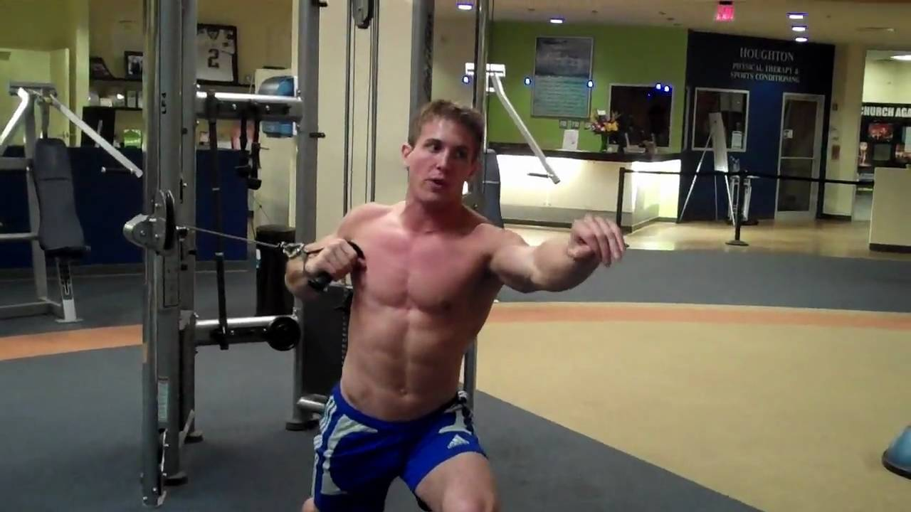 How To One Arm Chest Press Lf Cable Youtube