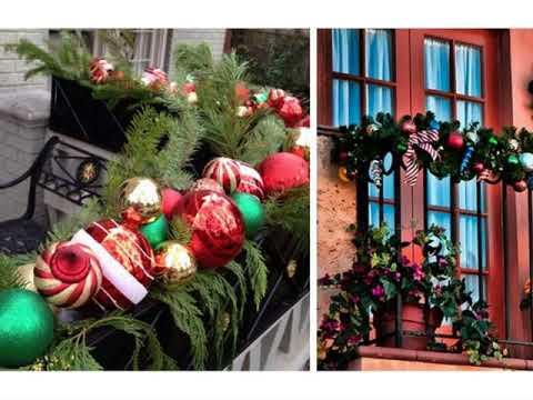 Adornos navidenos para decorar balcones