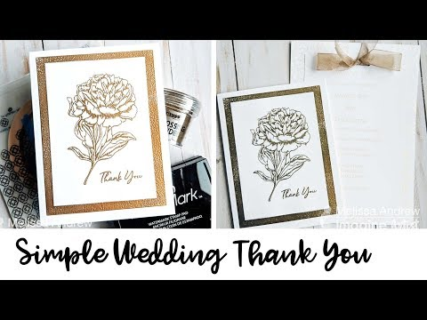 DIY Wedding Thank You Notes with Embossing