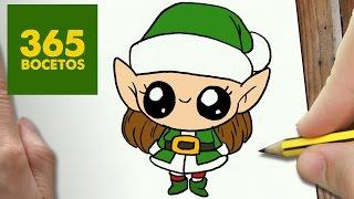 Como Dibujar Una Elfa Para Navidad Paso A Paso Dibujos Kawaii Navide
