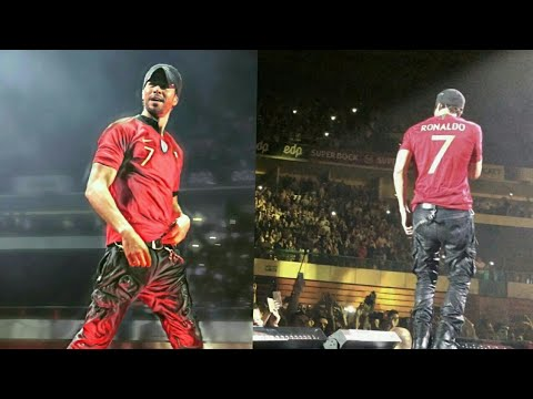 Enrique Iglesias wearing Cristiano Ronaldo Jersey in Portugal Live concert | Lisbon Tonight.