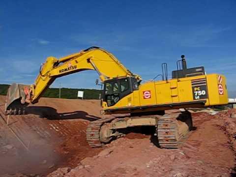 Komatsu PC 750 mass excavator