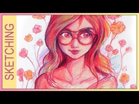 35-mins-sketch-✬-red-portrait-✬-by-sakuems