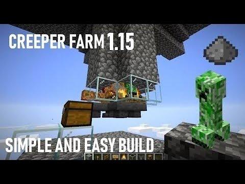 Minecraft Simple and Easy Creeper Gunpowder Farm 1.14
