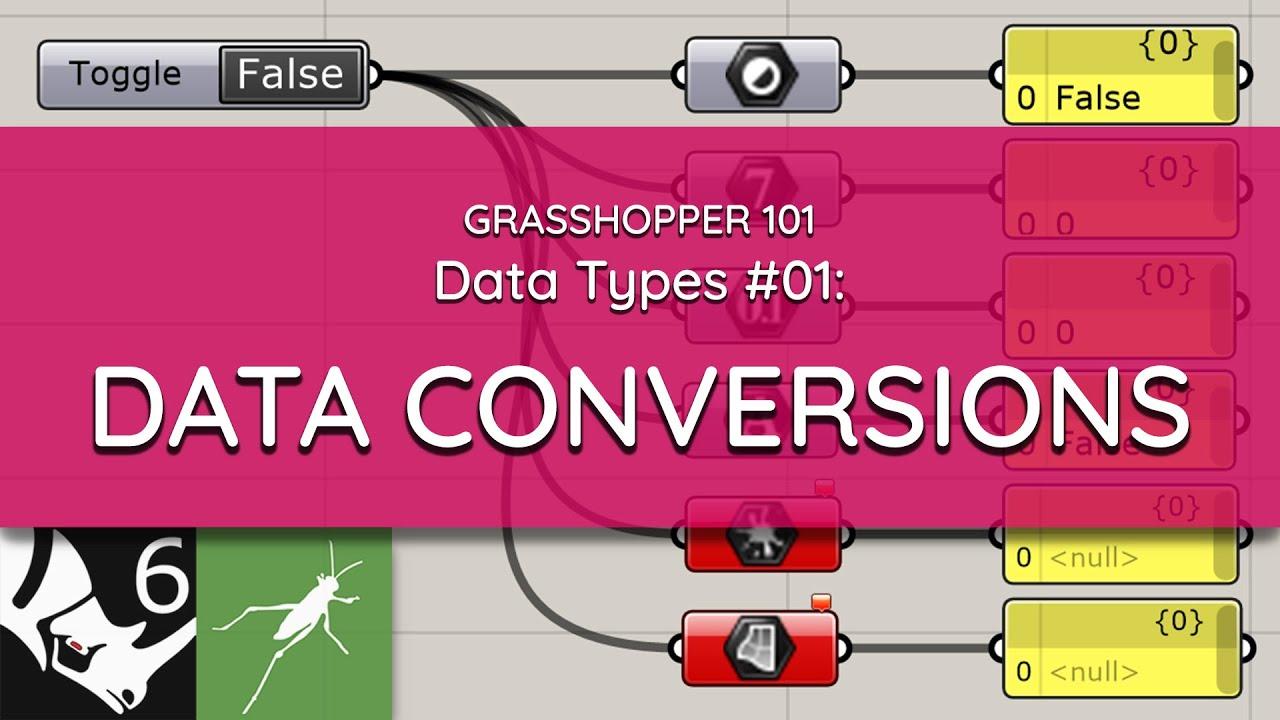 Grasshopper 101: Data Types   #01 Data Type Conversions