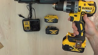 Unboxing DeWalt DCD796P2 18V 2x5 0Ah Li Ion XR Brushless Cordless Combi Drill in TSTAK Carry Case