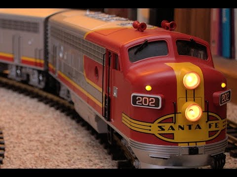 LGB G-scale Santa Fe Model Train Inside The House
