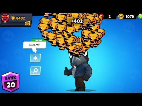 CROW NONSTOP To 500 Trophies! Brawl Stars