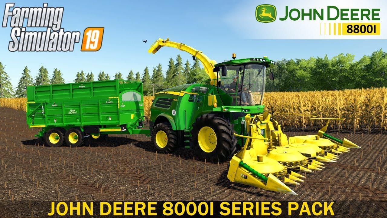 Farming Simulator 19 - JOHN DEERE 8000I SERIES Corn Silage Harvest