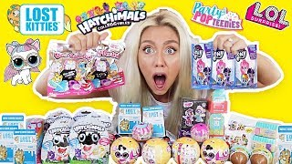 UNBOXING 100 SURPRISE TOYS! $700 SUPRISE TOYS! POPTEENIES, LOL SUPRISE PETS, HATCHIMALS!