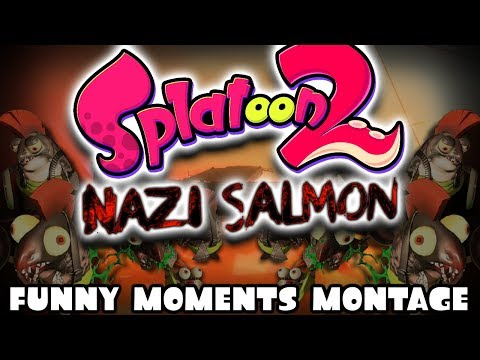 SPLATOON 2 NAZI ZOMBIES... kinda! Salmon Run Funny Moments Montage!!