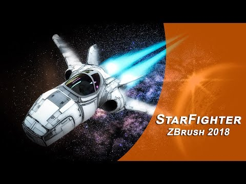 Star Fighter ZBrush 2018