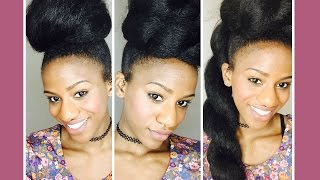 3 Quick Faux Bun Protective Styles on Short Natural Hair