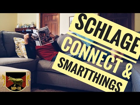 Schlage Connect Camelot Unboxing & Demo with SmartThings / Xiaomi Aqara Door Sensors