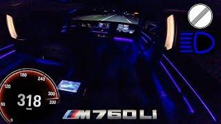 BMW M760Li PASSENGER 320km/h!! POV NIGHT DRIVE by AutoTopNL
