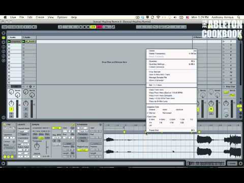 Ableton Tutorial--How to Remix: Warping Acappellas 1