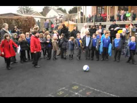 Penalty shoot out at Stanley St Andrews School
