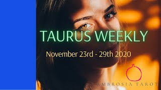 Taurus Weekly Love Check-in Tarot Reading- Movement and Honesty November 23 - 29 2020