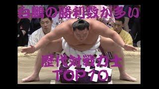 【大相撲】 白鵬の勝利数が多い力士 歴代TOP10 [平成29年7月/名古屋場所...