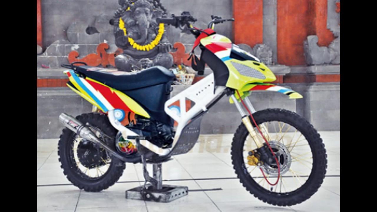 70 Foto Modifikasi Motor Mio Trail Terkeren Teka Teki Motor