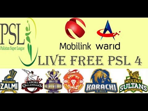 Watch Free PSL4  Live Streaming All Matches On Android Mobile Phone