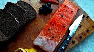 Как Засолить Красную Рыбу Семгу, Форель, Горбушу. Сухой способ посола рыбы