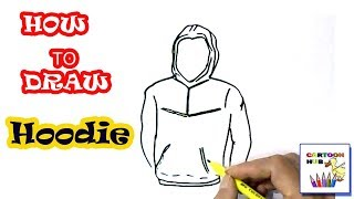 How to draw Hoodie in easy steps, step by step for children, kids, beginners