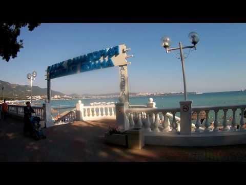 Геленджик. Пляж санатория Голубая волна