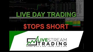 Live Day Trading: $TOPS Trade (Short Selling)