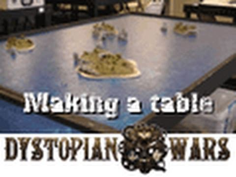 Making a Dystopian Wars ocean wargaming table