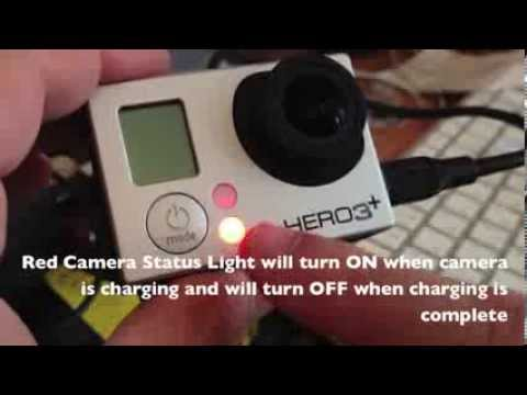 GoPro Hero 3 plus:How to Charge Battery [HD]