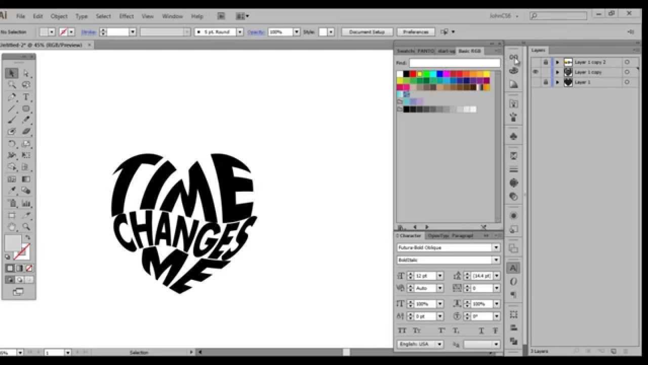 2 adobe illustrator morph text into an object youtube heart shape vector ai heart shape vector free black and white