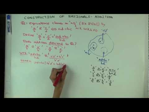 Construction of rationals: addition