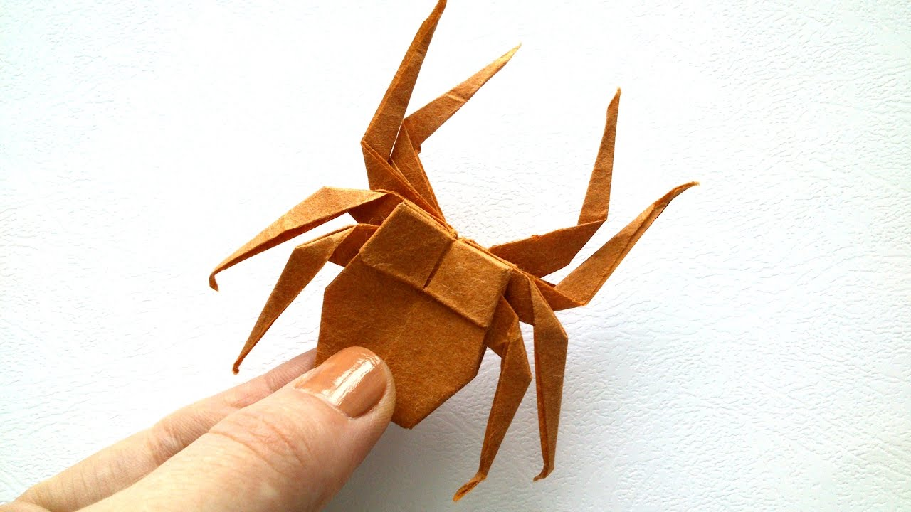 tutorial origami spider