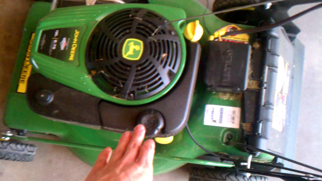 John Deere Js46 Walk Behind Mower Youtube