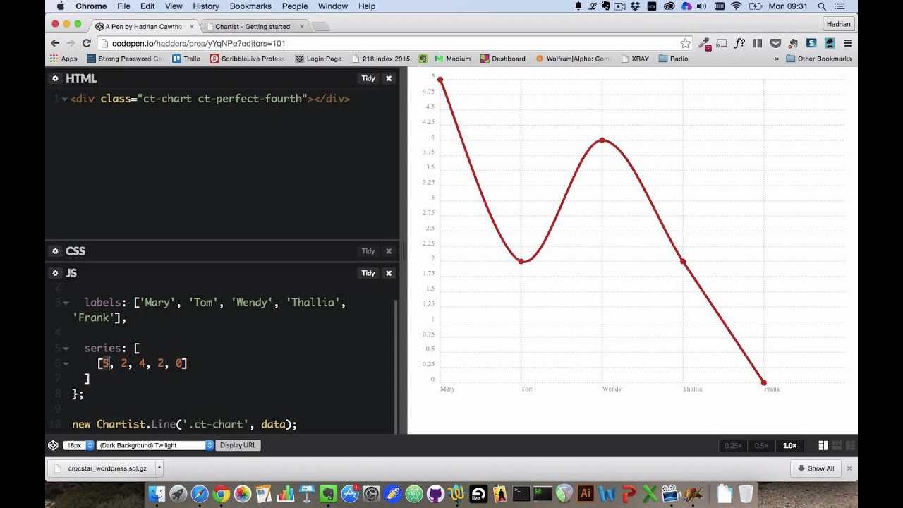 Using basic javascript to make simple chartistjs charts youtube using basic javascript to make simple chartistjs charts ccuart Images