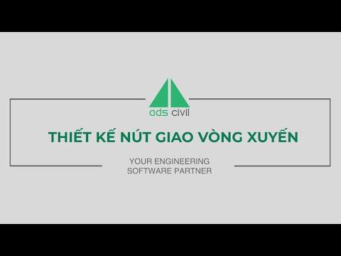 ADS Civil Hướng dẫn thiết kế nút giao vòng xuyến