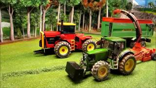 Rc Tractor Action - SILAGE HARVEST ON THE FARM - Rc Toy Fun