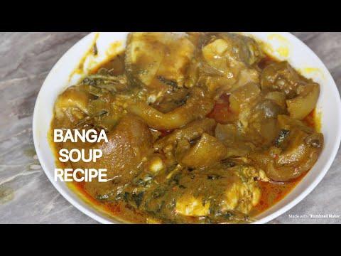 HOW TO PREPARE  BANGA SOUP/STEW(OFE AKWU)
